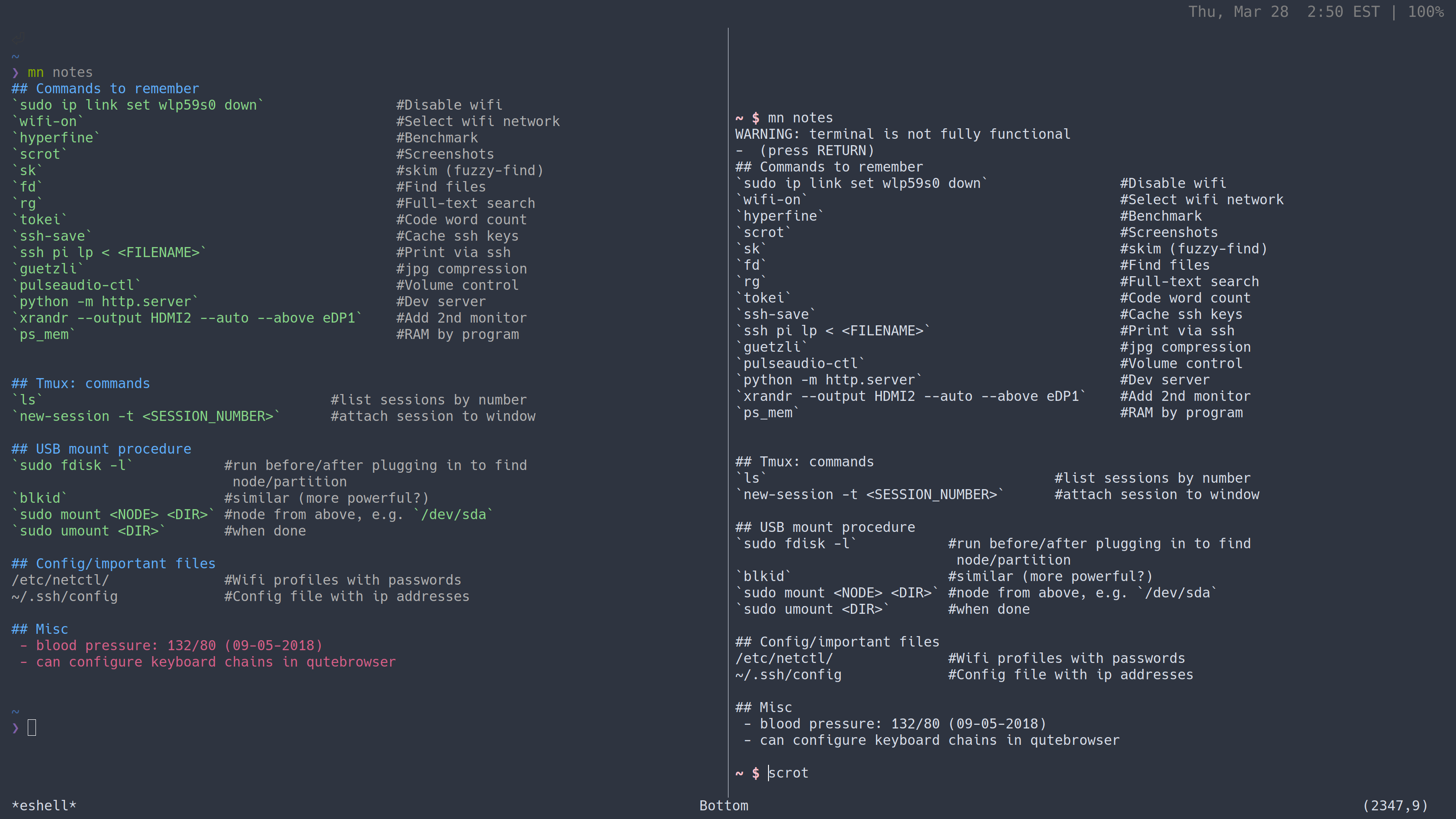 What would it take to get terminal colors in eshell? : emacs